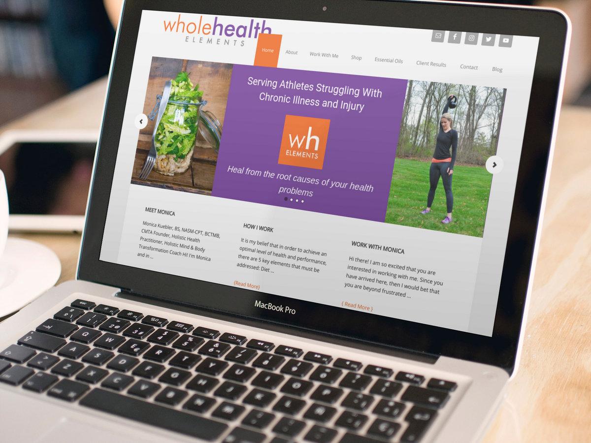 Whole Health Elements // Website Design + Logo Design
