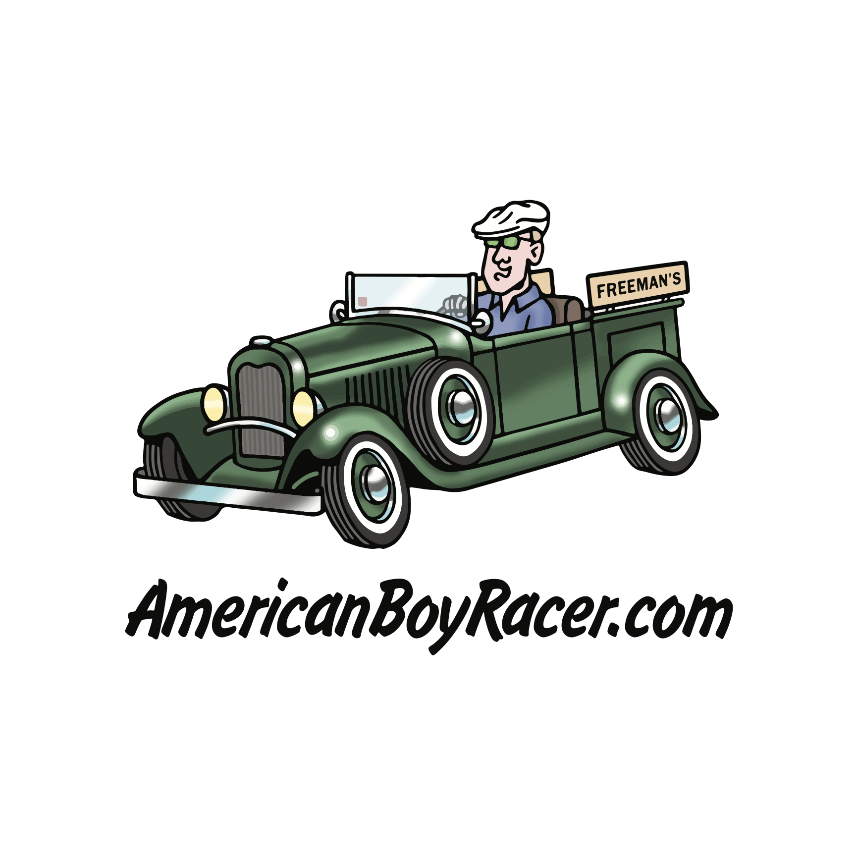 American Boy Racer // Logo Design