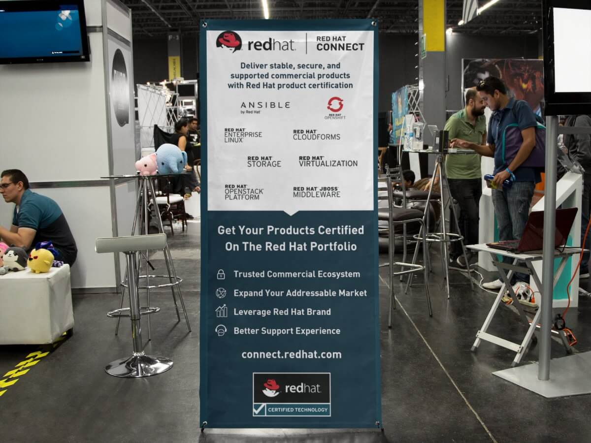 RedHat Tradeshow-001 // Signs, Banners, Stickers