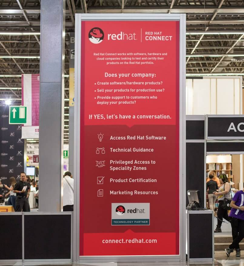 RedHat Tradeshow // Signs, Banners, Stickers