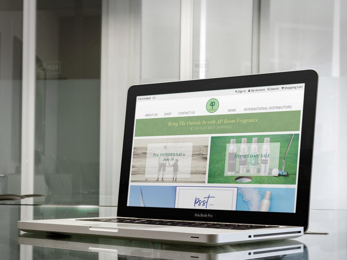 Ap Fragrance // Website Design