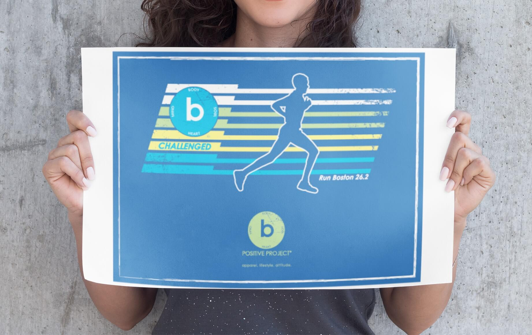 bpositive poster // Signs, Banners, Stickers
