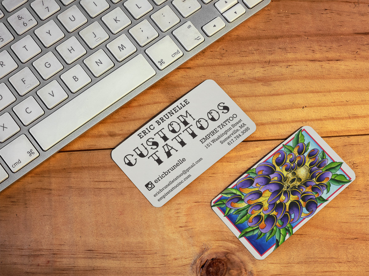 Eric Brunelle Tattoos // Business Cards