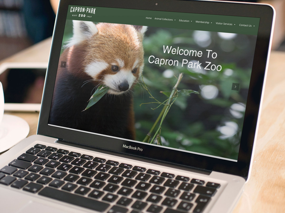 Capron Park Zoo // Website Design