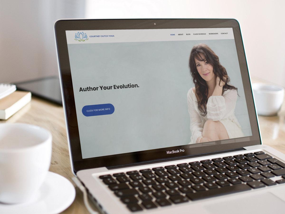 Courtney Dutch Yoga // Website Design + Logo Design