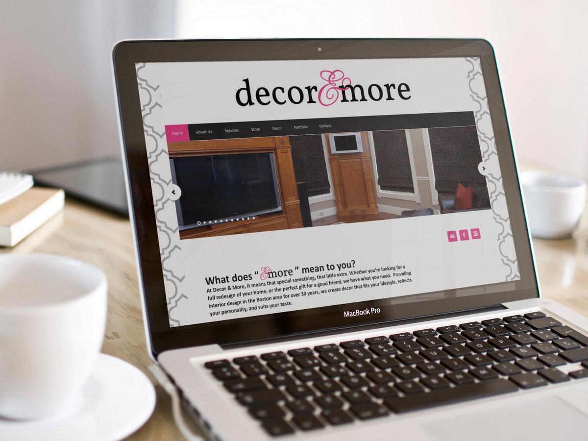 Decor & More // Website Design