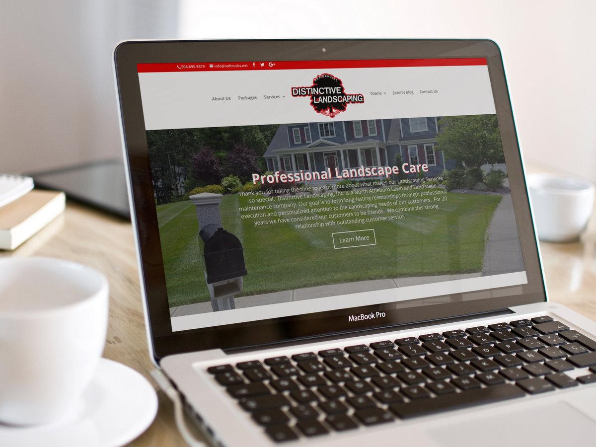 Distinctive Landscape // Website Design