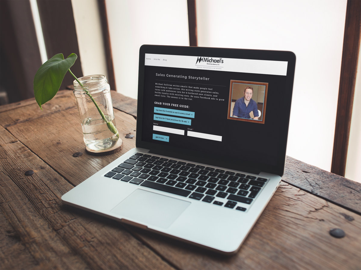 Michael's Marketing Agency // Website Design + Logo Design