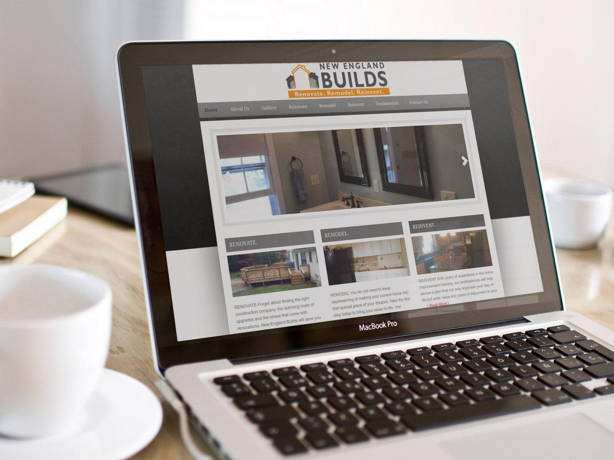 NE Builds // Website Design + Logo Design