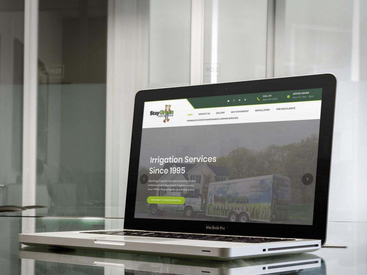 StayGreen Irrigation // Website Design