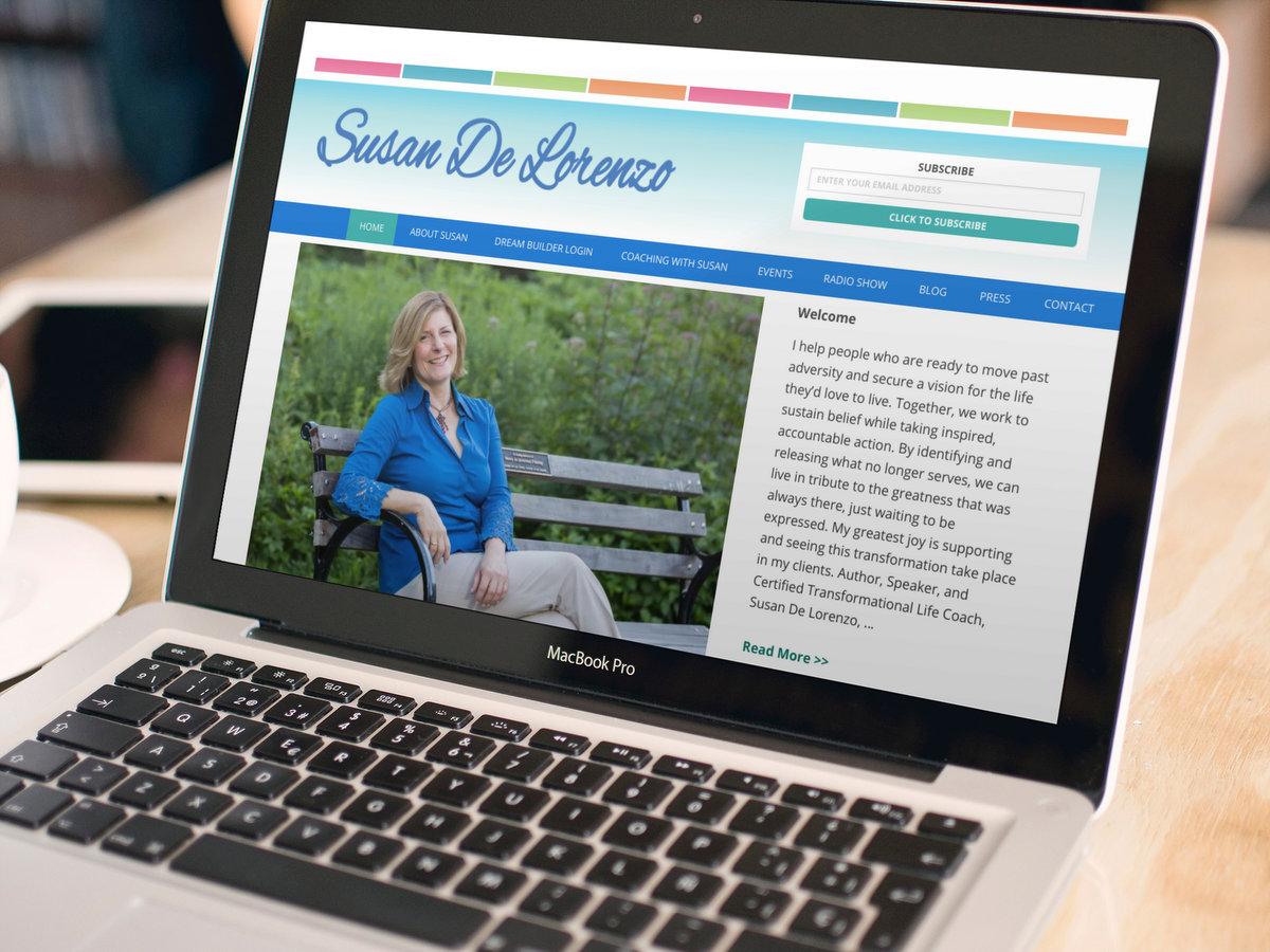 Susan DeLorenzo // Website Design + Logo Design