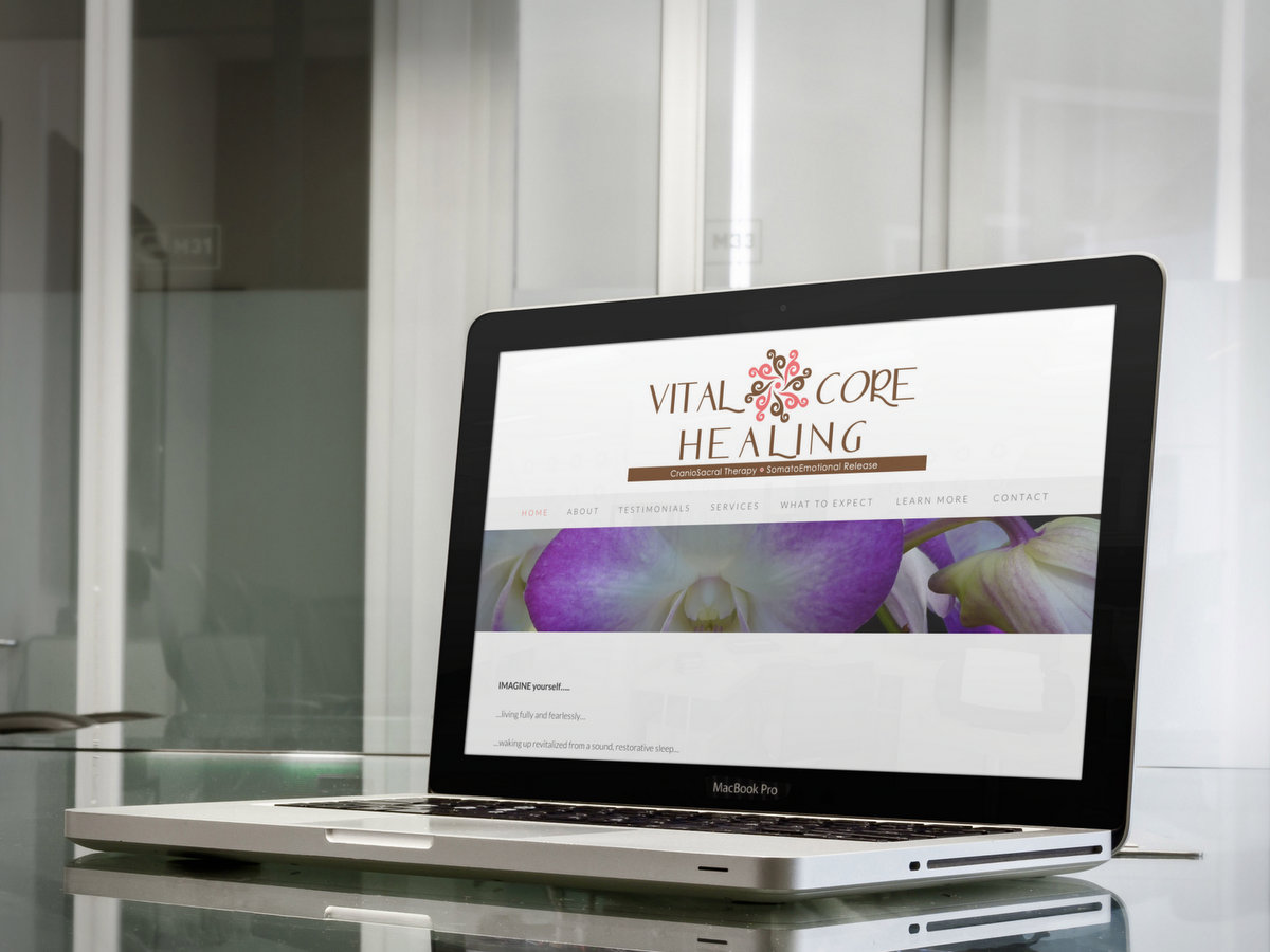 Vital Core Healing // Website Design + Logo Design