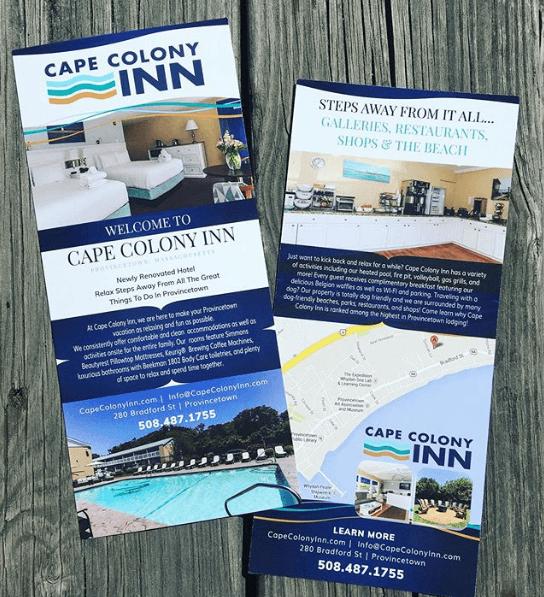Cape Colony Inn // Rack Card Design