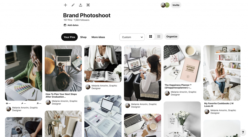 NAx2 Creative | BrandPhotoShoot | Pinterest Board